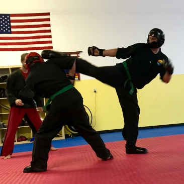 Sparring is one of the many aspects of our training.. it helps develop timing, distance, footwork for example.